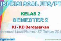 Kisi-Kisi Soal UTS/PTS Kelas 2 Semester 2