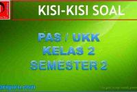 Kisi-kisi Soal PAS Kelas 2 Semester 2