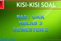 Kisi-kisi Soal PAS Kelas 3 Semester 2