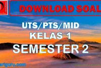 Soal UTS Kelas 1 Semester 2