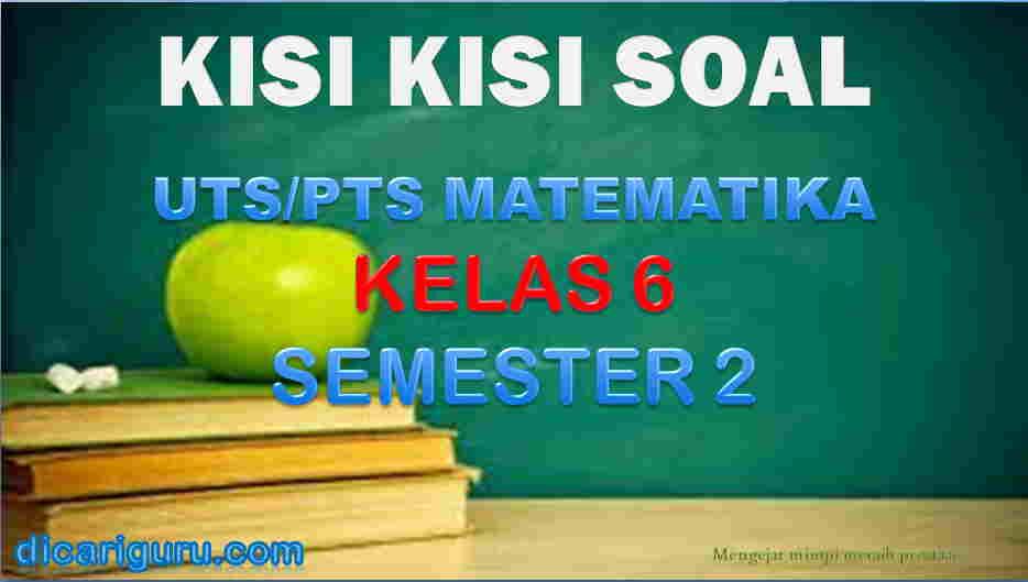 Download Kisi-kisi Soal UTS MTK Kelas 6 Semester 2