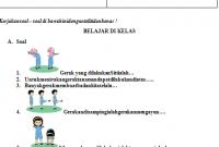 Soal UH PJOK Kelas 1 Tema 6