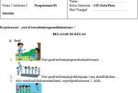 Soal UH PJOK Kelas 1 Tema 5