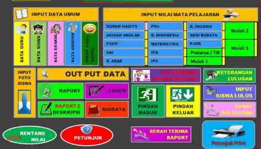 Download Gratis Aplikasi Raport Kelas 6 Semester 2 K13 Revisi 2018