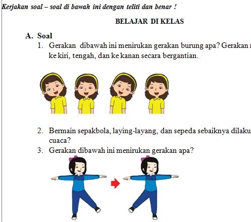 Soal UH PJOK Kelas 3 Tema 5 Semester 2