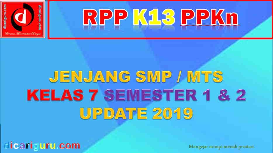 RPP PPKN SMP Kelas VII