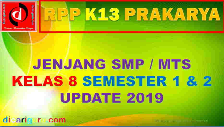 Rpp Prakarya Kelas 8 Smp K13 Update 2019 Dicariguru Com