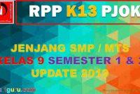 RPP K13 PJOK SMP Kelas 9