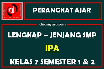 RPP dan Perangkat Lengkap IPA Kelas 7