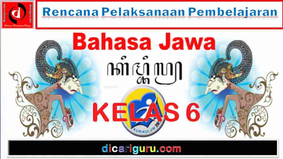 RPP Bahasa Jawa Kelas VI