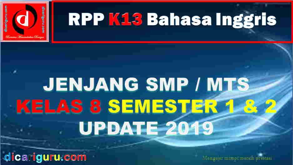 RPP Kelas 8 SMP Pelajaran Bahasa Inggris