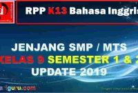 RPP K13 Bahasa Inggris Kelas IX