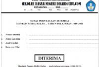 Surat Pernyataan Diterima PPDB