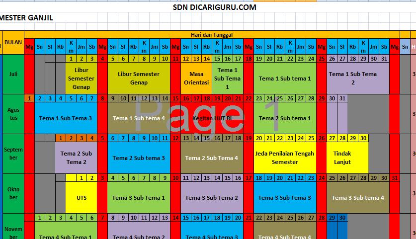 Jadwal Pelajaran SD