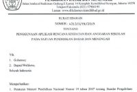 Surat Edaran Kemendikbud Penggunaan Aplikasi RKAS Online