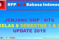 RPP Bahasa Indonesia SMP Kelas 8