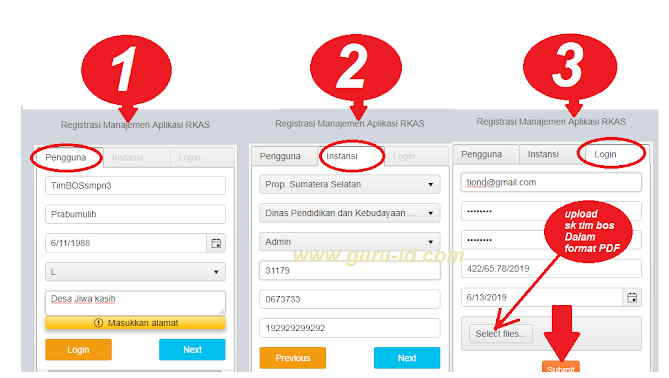 Langkah - LAngkah Registrasi RKAS Online