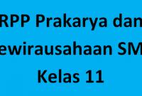 RPP PKWU Kelas XI