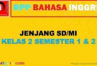 RPP K13 Bahasa Inggris SD Kelas 2