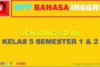 RPP K13 Bahasa Ingris Kelas 5 SD