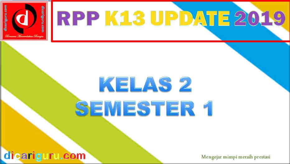 RPP Kelas 2 Semester 1