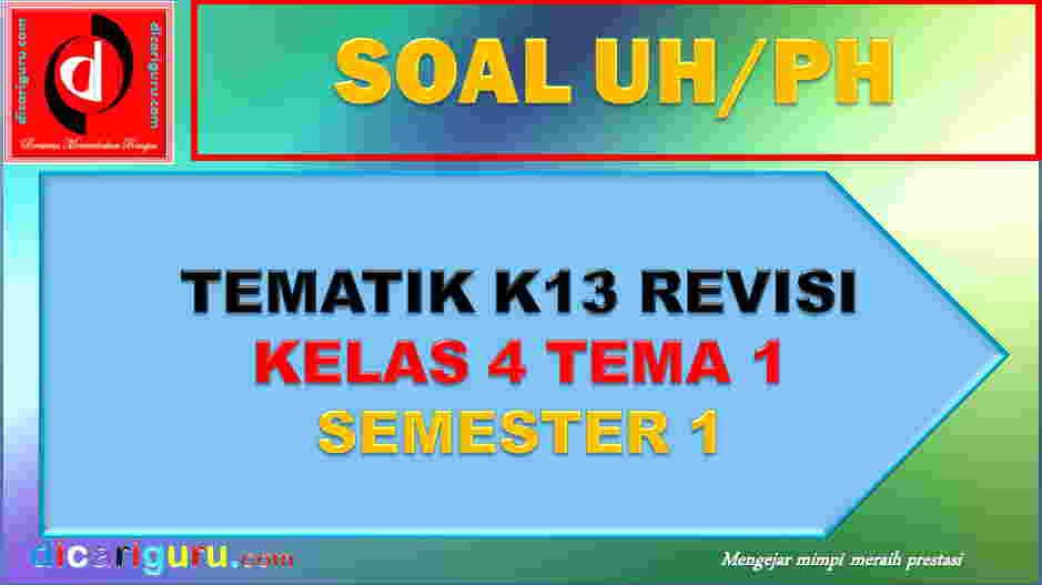 Soal UH K13 Kelas 4 Tema 1