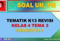 Soal UH Kelas 4 Tema 3