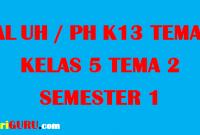 Soal UH Kelas 5 Tema 2 tahun 2019/2020