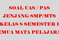 Soal UAS Kelas 8 Semester 1