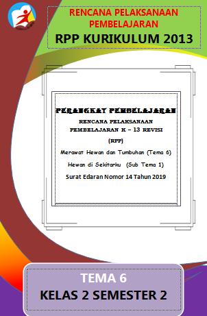 RPP 1 Halaman Kelas 2 Tema 6