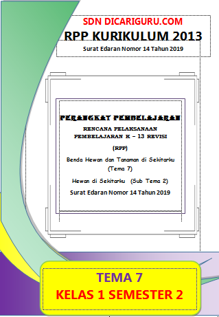 Download RPP Kelas 1 Tema 7