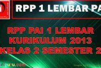RPP 1 Lembar PAI SD Kelas 2 Semester 2