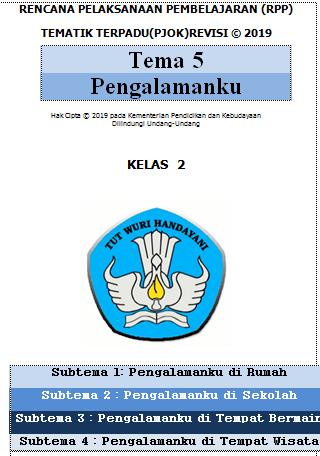 RPP PJOK 1 Lembar / Halaman Kelas 2 Semester 2