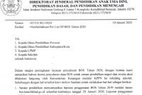 Pre Cut Off BOS 2019 / Penyaluran BOS 2020