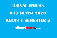 Agenda / Jurnal Harian Guru Kelas 1 Semester 2 Revisi 2020
