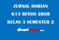 Jurnal Harian Guru Kelas 3 Semester 2 Revisi 2020
