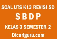 Soal UTS Tengah Semester SBDP Kelas 3 Semester 2