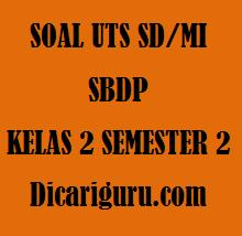 Soal UTS / PTS SBDP Kelas 2 Semester 2 Tahun 2020