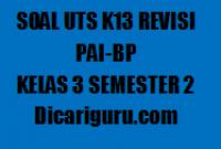 Kumpulan Soal UTS PAI Kelas 3 Semester 2 2020/2021