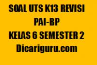 Kumpulan Soal UTS PAI Kelas 6 Semester 2 2020/2021