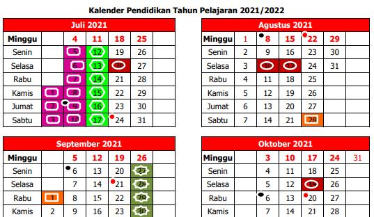 Kalender Pendidikan Tahun 2020/2021