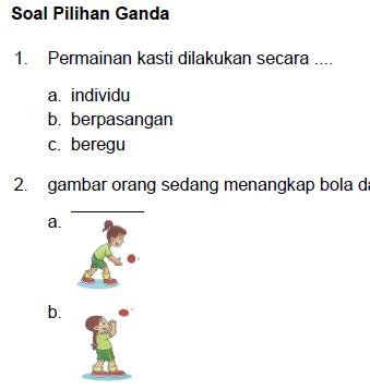 Soal PAT PJOK Kelas 2 Kurikulum 2013