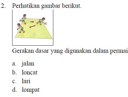 Soal PAT PJOK Kelas 5 Kurikulum 2013