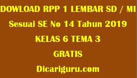Download RPP 1 Lembar Kelas 6 Tema 3 Tokoh dan Penemuan