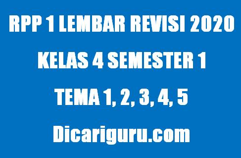 RPP 1 Lembar Kelas 4 Semester 1 (Ganjil) Update