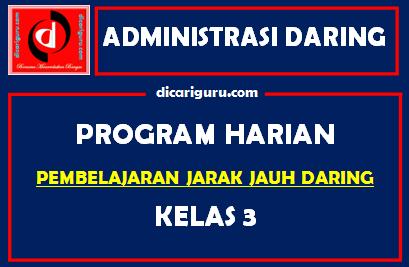 Download Program Harian Belajar Daring Kelas 3