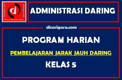 Download Program Harian Belajar Daring Kelas 5