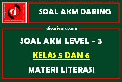 Soal AKM Level 3 Kelas 5 dan 6 Materi Literasi