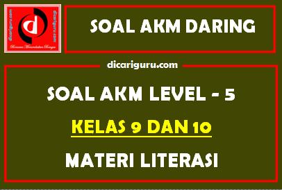 Soal AKM Level 5 Kelas 9 dan 10 Materi Literasi