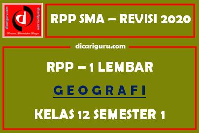 RPP 1 Lembar Geografi Kelas 12 Semester 1 (Ganjil)